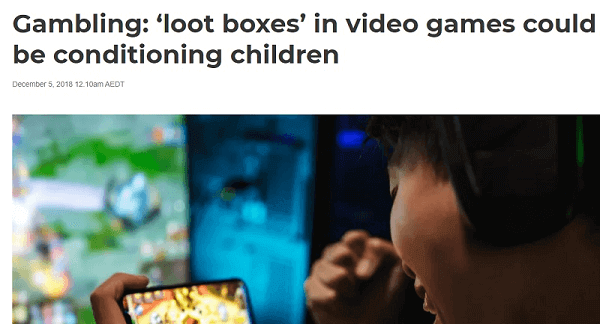 News about loot boxes gambling