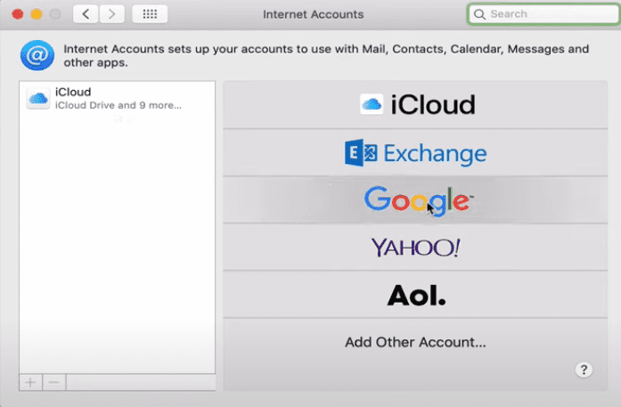 how to use google calendar on mac - choose google