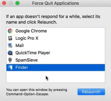 how to force quit mac application - mac shortcut