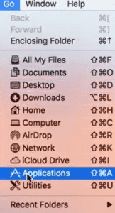 how to find application folder on mac