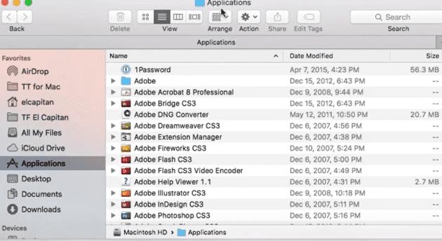 how to add mac application folder to dock