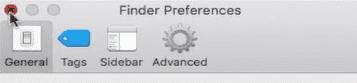 get missing mac application folder back- choose side bar