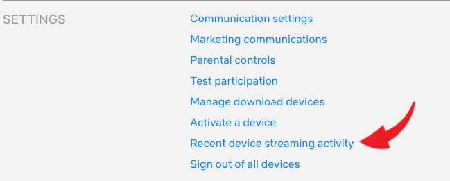 check recent logins - netflix manage devices