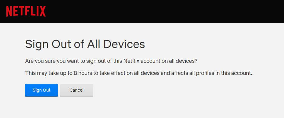 sign out of all netflix devices