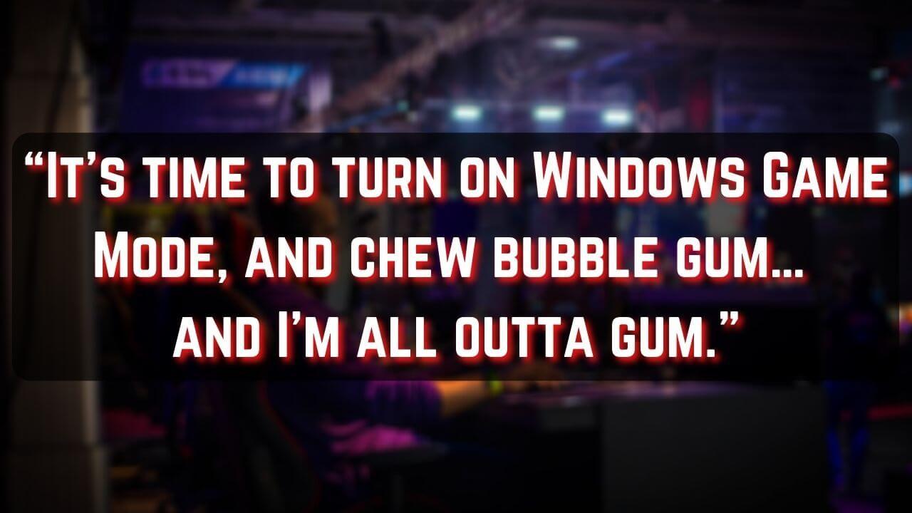 windows game mode