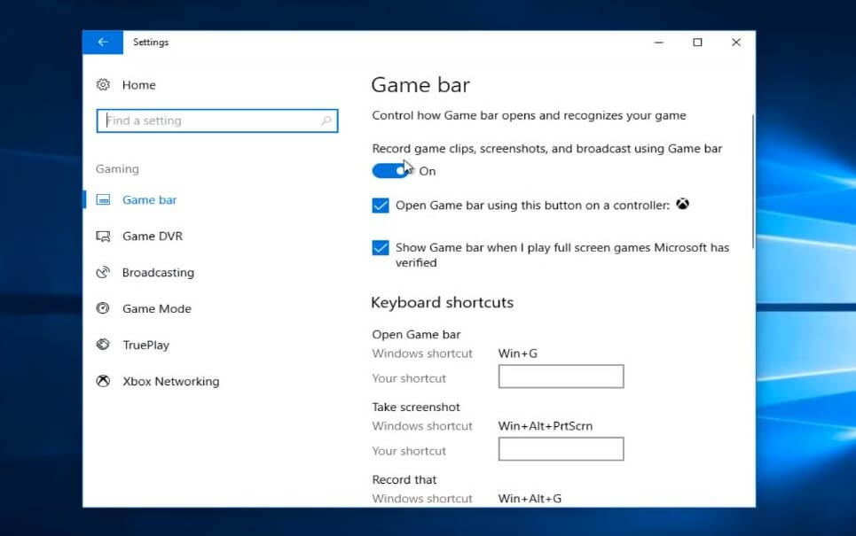 how to turn on windows game mode - game bar