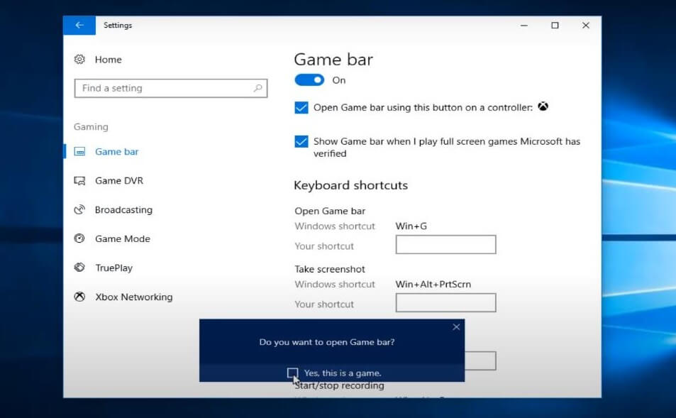 methods to turn on game mode on your windows