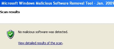 microsoft windows malcious software removal tool