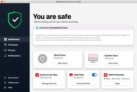 features of bitdefender antivirus for mac