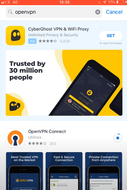 use vpn on iphone without app - use openvpn