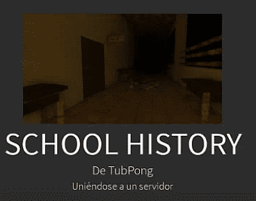 scary roblox game - school history