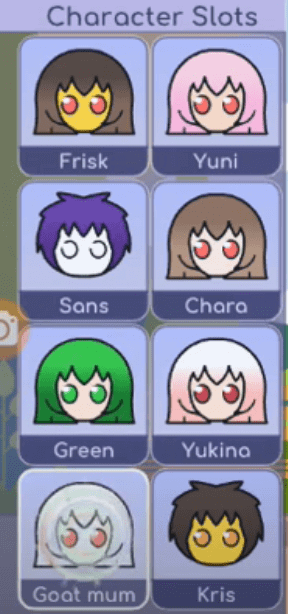 create characters - gacha app