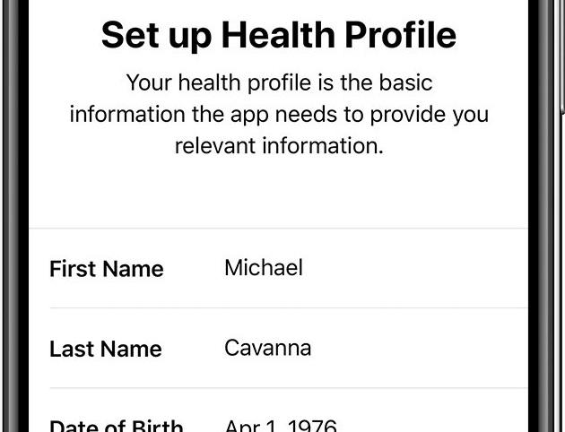 setup iphone health app