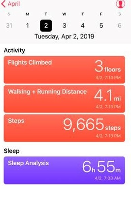 monitor daily activity using iphone health app