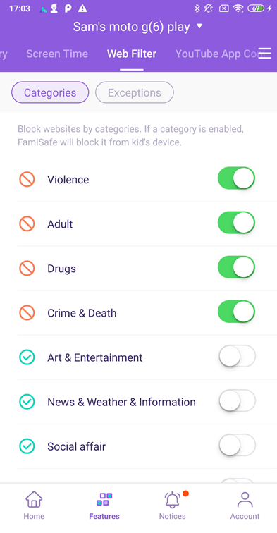Wondershare FamiSafe block porn