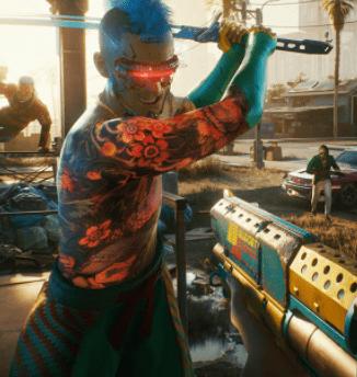 intense violence - cyberpunk 2077 review