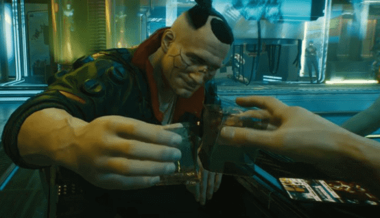 cyberpunk 2077 review - encourage drugs and alcohol