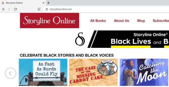 kids books online - storyline online