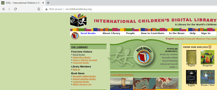 free online books for kids - ICDL