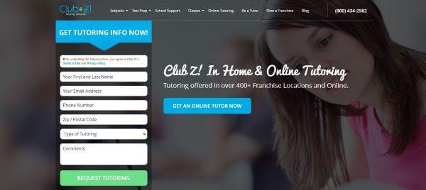 free online tutoring website - club z tutoring