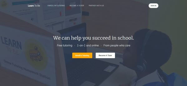 free online tutoring - learn to be