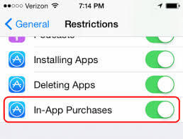 turn off in-app purchase?