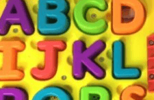 best learning toys for kids - letters set