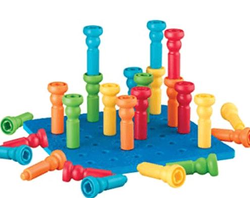 best learning toys for kids - peg board