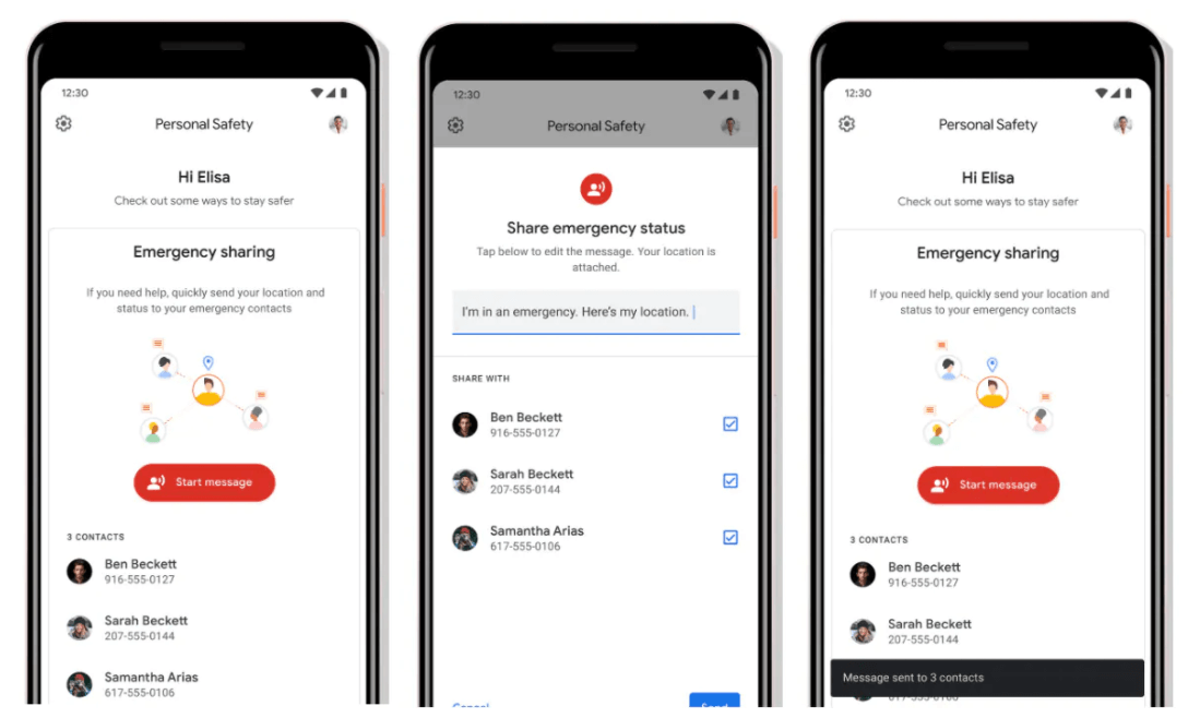 Google Personal Safety-find my friends