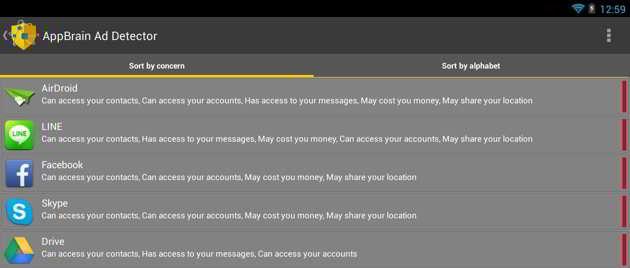 bloqueador de anúncio - AppBrain Ad Detector