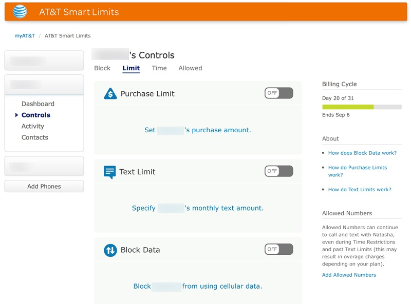 at&t parental control apps