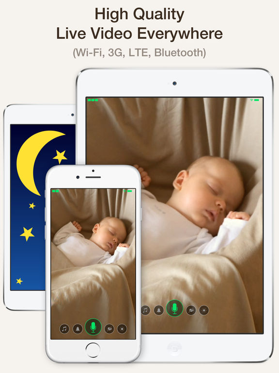 application de moniteur de bébé  - Cloud Baby Monitor
