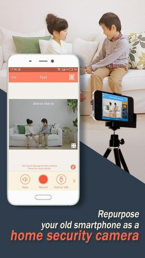 aplicación para monitorear Bebés - AtHome Camera
