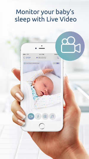 aplicación para monitorear Bebés - Baby Monitor for iPhone