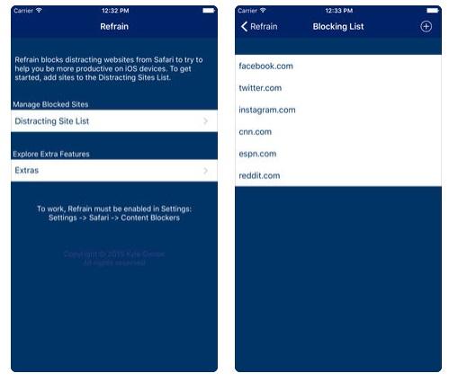 bloquear ciertas páginas web en el iPad