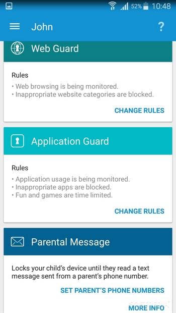 App controle dos pais para android - ESET Parental Control Android