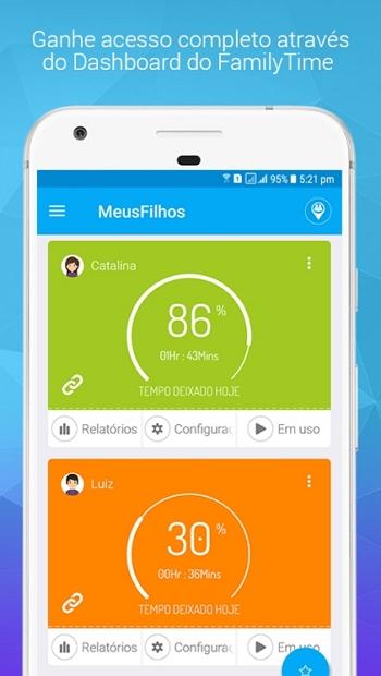 App controle dos pais para android - Family Time