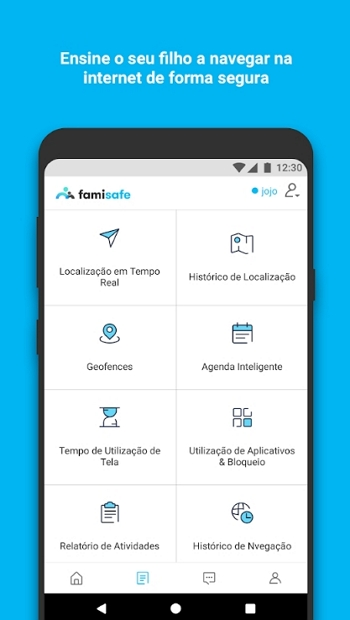App controle dos pais para android - FamiSafe Kid Control App