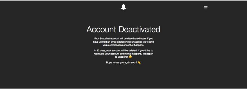 Eliminado Cuenta de Snapchat