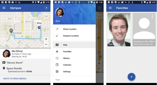 Glympse - Standort Lokalisierung Smartphones