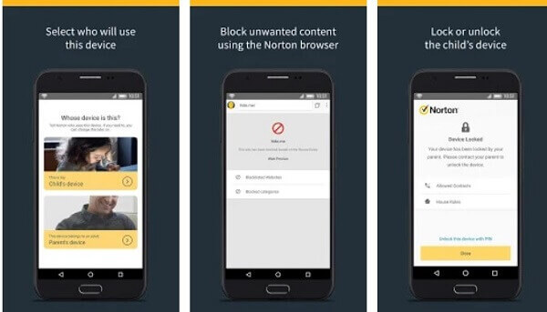 Android parental control app - Norton Family Parental Control