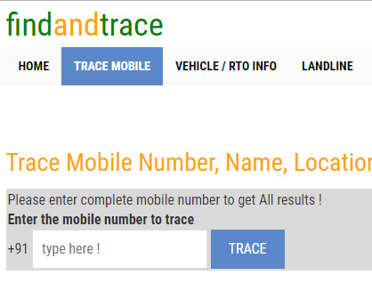 trace cell phone numbers free names