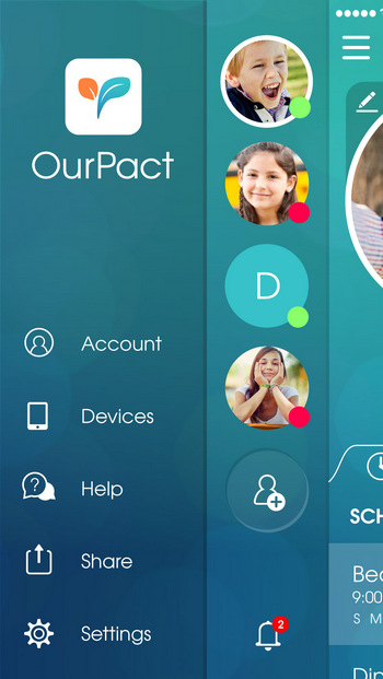OurPact iOS Parental Control - set iphone child restrictions