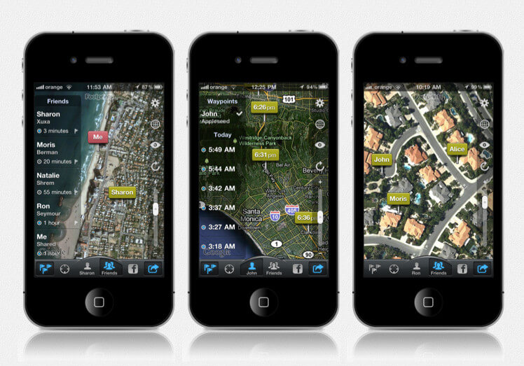 application de surveillance parentale iphone - FootPrints Monitoring for iPhone