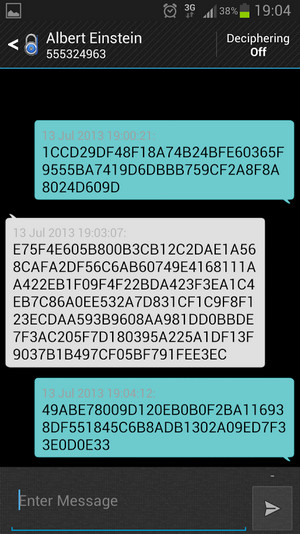 Encrypted SMS messages