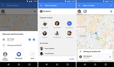 location tracker app - Google Maps