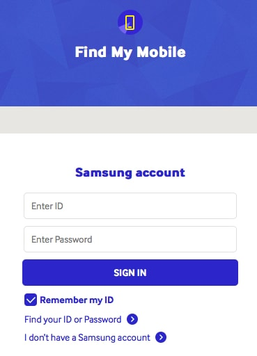 how can i track my lost phone using Find my Mobile by Samsung