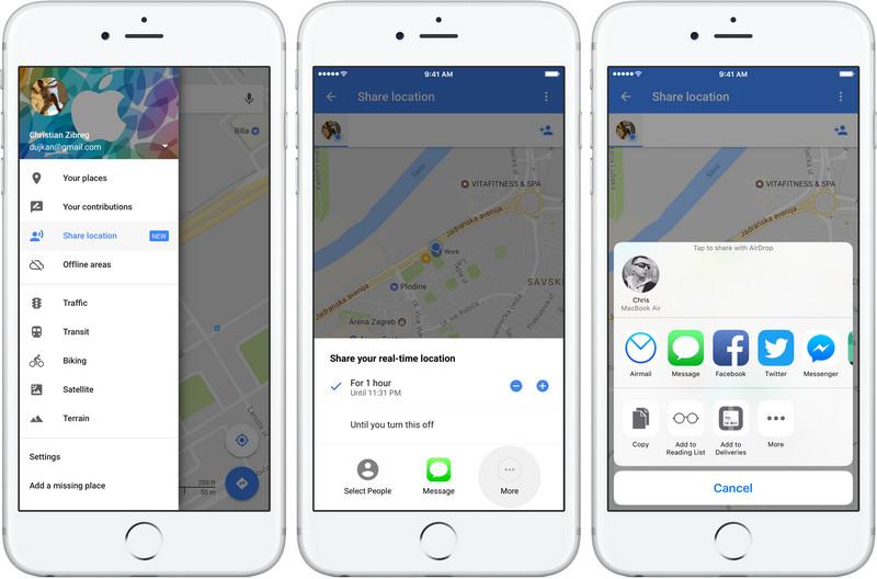 suivre l'iphone gratuitement en utilisant Google Maps