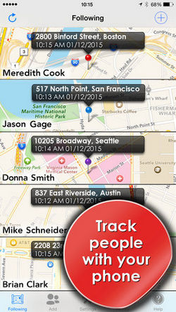 location tracker app - Phone Tracker for iPhones (track people with GPS)