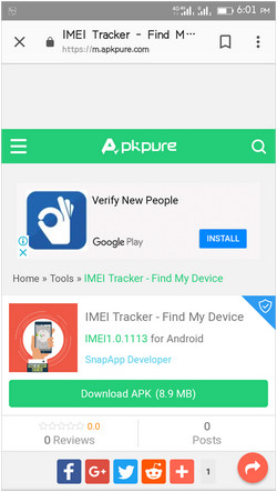 track the phone using IMEI for free